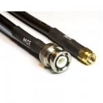 Koaxialkabel MCF 240 Low Loss konfektioniert mit BNC Stecker auf SMA Stecker