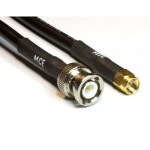 H 155 Low Loss Koaxialkabel mit BNC Stecker auf SMA Stecker