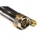 MCF 240 Low Loss Koaxialkabel konfektioniert mit N Stecker auf SMA Stecker