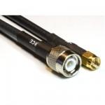MCF 240 Low Loss Koaxialkabel konfektioniert mit TNC Stecker auf SMA Stecker