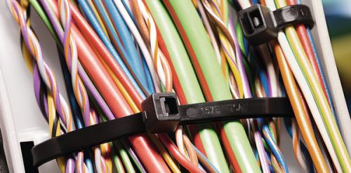 Kabelbinder im Einsatz