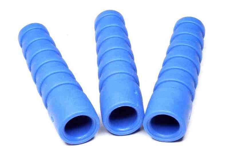Blaue Knickschutztüllen