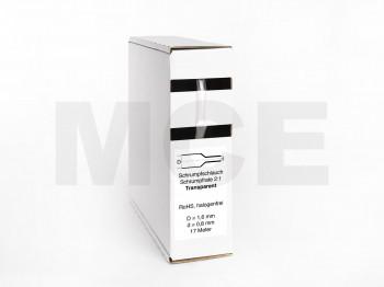 Schrumpfschlauch Box 17m Transparent 1,6mm / 0,8mm