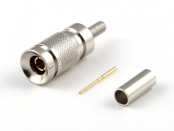 1.0 / 2.3 Plug for RG 179 / 187, Crimp, 75 Ohm