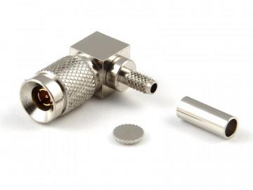 1.0 / 2.3 Plug R/A for RG 179 / 187, Crimp, 75 Ohm