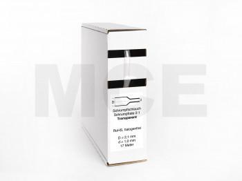 Schrumpfschlauch Box 17m Transparent 2,1mm / 1,0mm