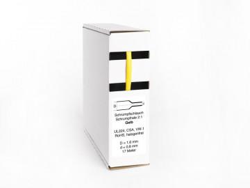 Heat Shrink Tube Box 17m Yellow 1.6mm / 0.8mm