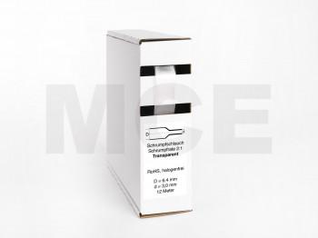 Heat Shrink Tube Box 12m Transparent 6.4mm / 3.0mm