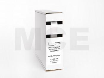 Heat Shrink Tube Box 8m Transparent 8.0mm / 4.0mm