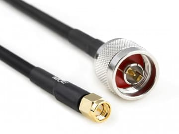 H 155 PE Coaxial Cable assembled with N Male to SMA Male, 15m