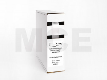 Heat Shrink Tube Box 8m Transparent 9.5mm / 4.5mm