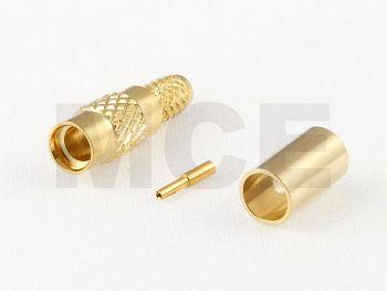 MMCX Jack for RG 316 D / RD 316, Gold plated, Crimp