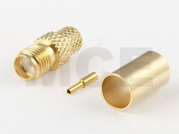 SMA Jack for H 155 / CLF 240, Gold plated, Crimp