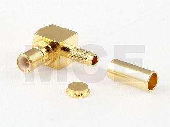 SMB Plug R/A for RG 316 D / RD 316, Crimp