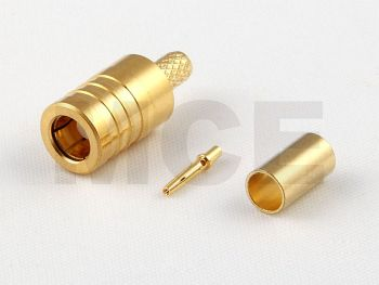 SMB Jack for RG 178 / 196, Inner Pin Female, Crimp