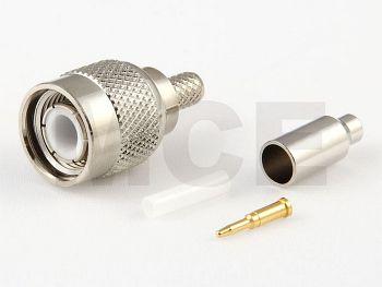 TNC Stecker für RG 174 / 188 / 316, Crimp
