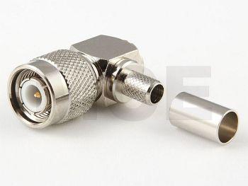 TNC Stecker / Winkel für H 155 / CLF 240, Crimp