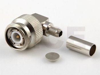 TNC Stecker / Winkel für RG 142 / 223 / 400, Crimp