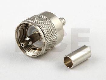 UHF Plug for RG 58, Crimp