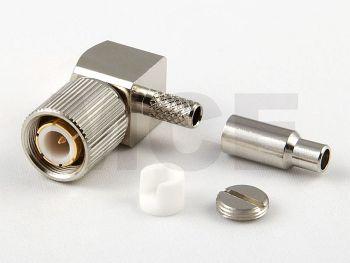 1.6 / 5.6 Plug R/A for RG 179 / 187, PTFE, Crimp