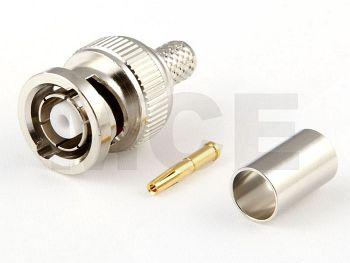 RP BNC Plug for RG 58, Crimp