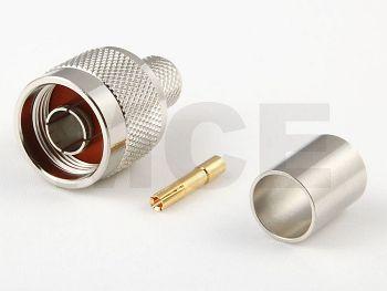 RP N Stecker für Ecoflex 10 / LMR 400, Crimp