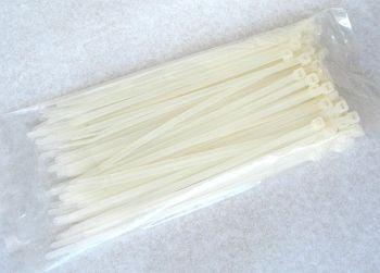 Kabelbinder naturfarben 2,5 mm x 100 mm, Beutel mit 100 Stück