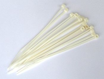 Cable Ties, White, 3,6 x 150 mm