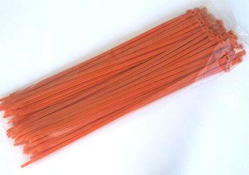 Kabelbinder Orange 2,5 x 200 mm, Beutel mit 100 Stück