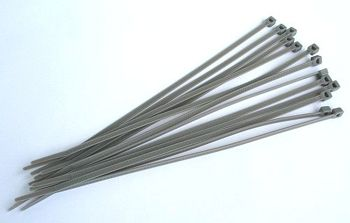Cable Ties, Silver, 3,6 x 202 mm