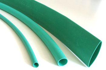 Schrumpfschlauch grün 2,4 / 1,2 mm, Meterware, DERAY-H
