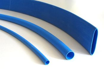 Shrink Tubing blue 6,4 / 3,2 mm, DERAY-H Meter-Goods