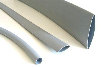 Schrumpfschlauch grau 12,7 / 6,4 mm, Meterware, DERAY-H