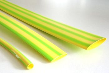 Shrink Tubing yellow-green 4,8 / 1,5 mm, Meter-Goods DERAY-IGY
