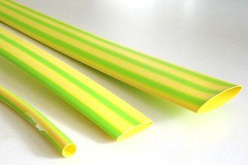 Schrumpfschlauch gelb-grün 9,5 / 3,0 mm, Meterware, DERAY-IGY