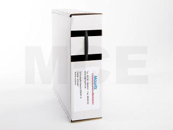 Shrink Tubing black 1,6 / 0,8 mm, Box 12m DERAY-H