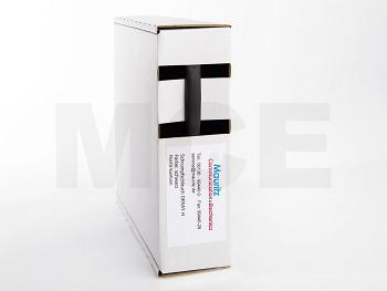 Shrink Tubing black 4,8 / 2,4 mm, Box 11m DERAY-H