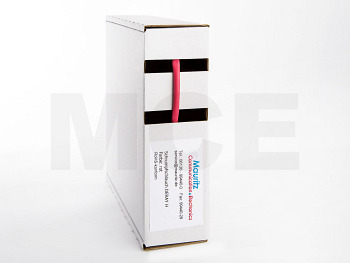 Schrumpfschlauch rot 1,2 / 0,6 mm, Box 12m DERAY-H