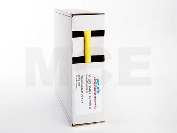 Schrumpfschlauch gelb 6,4 / 3,2 mm, Box 10m DERAY-H