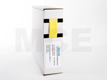 Schrumpfschlauch gelb 12,7 / 6,4 mm, Box 7,5m DERAY-H