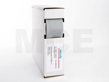 Schrumpfschlauch grau 25,4 / 12,7 mm, Box 3m DERAY-H