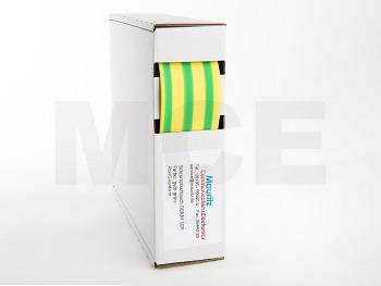 Schrumpfschlauch gelb-grün 25,4 / 8,0 mm, Box 2m DERAY-IGY