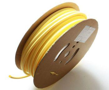 Schrumpfschlauch gelb 4,8 / 2,4 mm, 75m Spule DERAY-H
