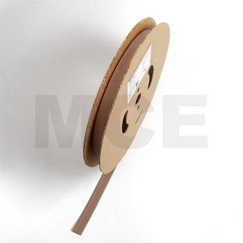 Schrumpfschlauch braun 2,4 / 1,2 mm, 150m Spule DERAY-H