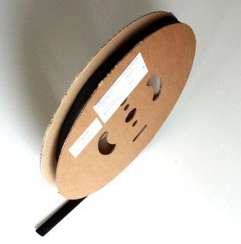Schrumpfschlauch schwarz 2,4 / 1,2 mm, 150m Spule DERAY-I