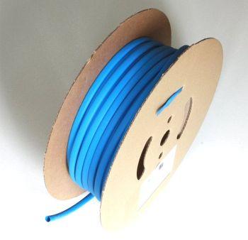 Schrumpfschlauch blau 25,4 / 8,0 mm, 30m Spule DERAY-I 3000