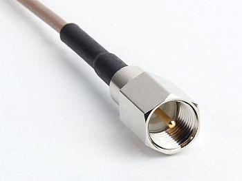 RG 316 mit FME Stecker auf CRC9 Winkelstecker, Länge 1m