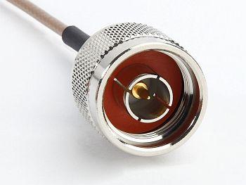 RG 316, MMCX Male R/A to N Male, Length 15cm