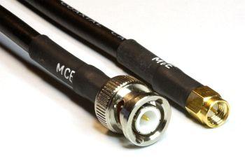 H 155 mit BNC Stecker auf SMA Stecker, Länge 50cm