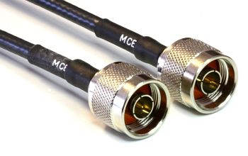 H 155 Coaxial Cable assembled with N Male to N Male, 1m